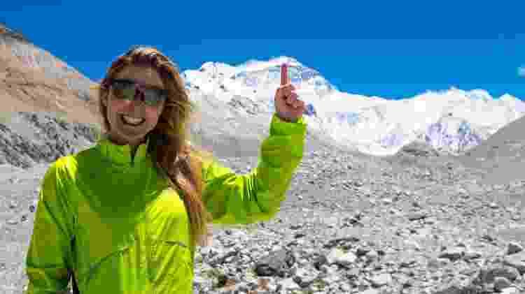 Karina Oliani vai mostrar sua aventura ao escalar o Monte Everest no Fantástico - Divulgação - Divulgação