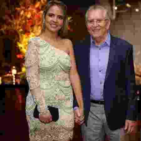 Carlos Alberto e a noiva, Renata Domingues  - Reprodução/Instagram/calbertonobrega