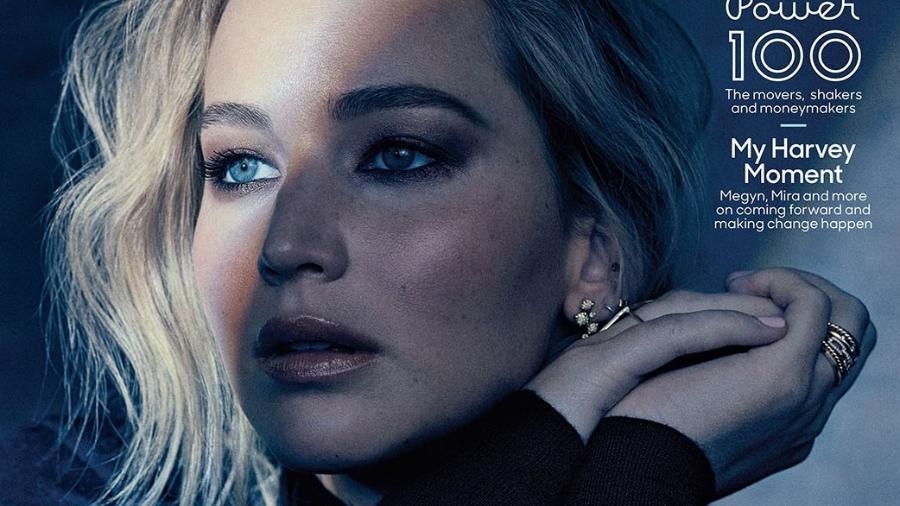 Jennifer Lawrence na capa da The Hollywood Reporter - Reprodução
