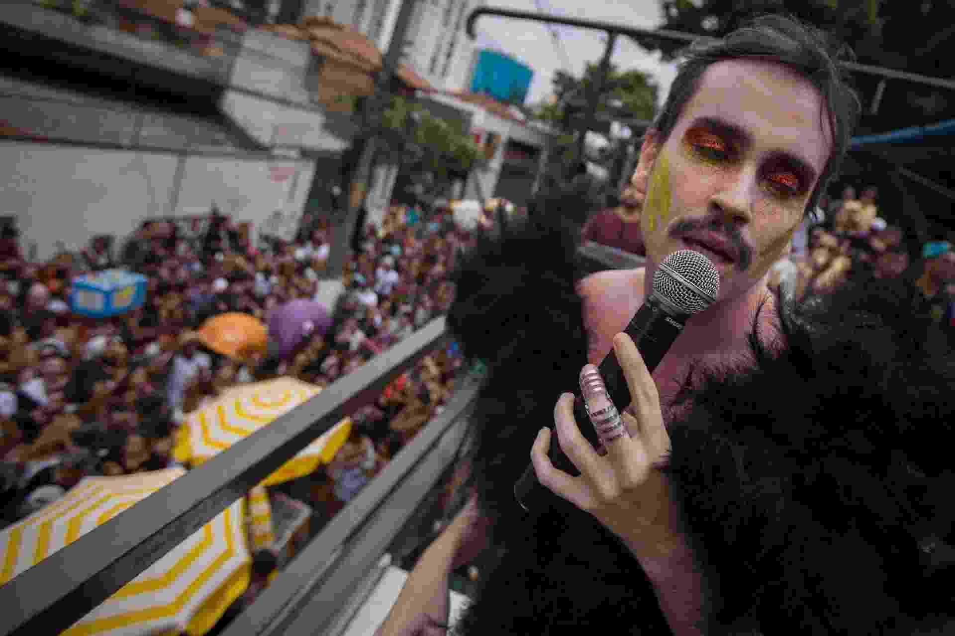 Com Johnny Hooker, Bloco Se Te Pego Não Te Largo faz saideira do Carnaval de SP - André Lucas/UOL