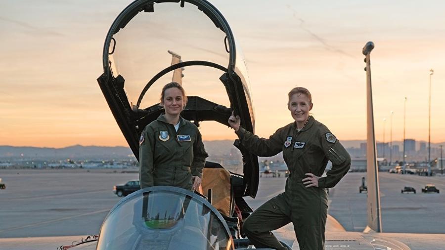 Brie Larson faz treino militar em Nevada (EUA) - Reprodução