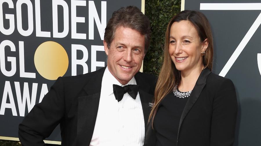 Hugh Grant e Anna Eberstein - Getty Images