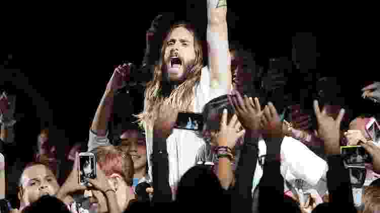 Jared Leto em show do Thirty Seconds to Mars - GV Cruz/Getty Images - GV Cruz/Getty Images