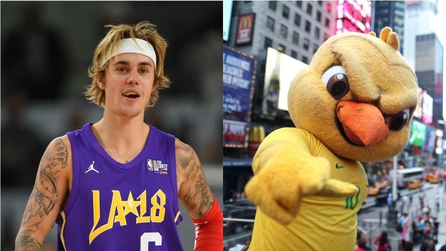 Justin Pistola? Ou Canarinho Bieber?  - Getty Images e Reprodução/Instagram/cbf_futebol