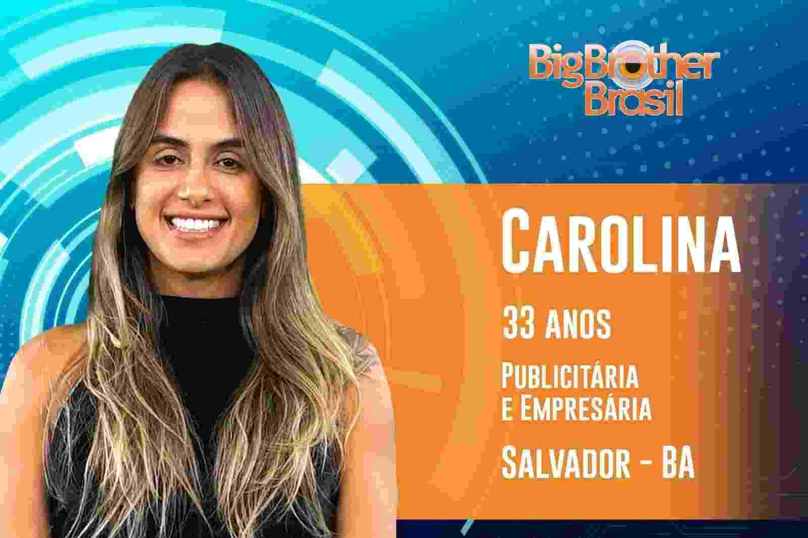 """Carolina é a segunda participante anunciada do """"BBB19"""" - Reprodução/TvGlobo"""