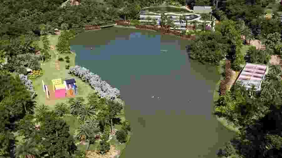Vista aérea do Instituto Inhotim, em Brumadinho (MG) - Divulgação