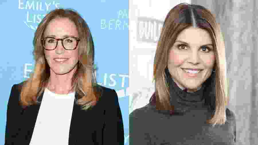 As atrizes Felicity Huffman e Lori Loughlin  -  Jon Kopaloff/FilmMagic/ Gary Gershoff/Getty Images