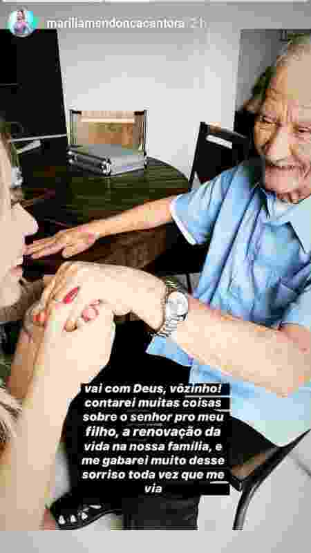 Marília Mendonça faz homenagem ao avô - Reprodução/Instagram - Reprodução/Instagram
