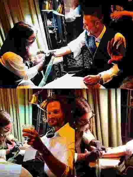 """Elenco de """"Supernatural"""" fez a mesma tatuagem durante o casamento de ator  - Reprodução/Instagram"""