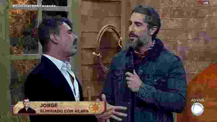 Jorge e Mion - Reprodução/RecordTV - Reprodução/RecordTV