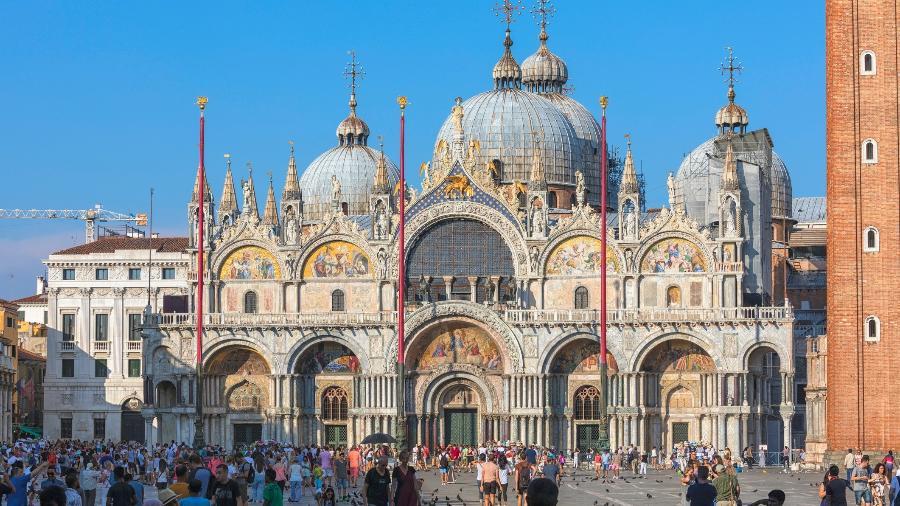 Basílica de San Marco, em Veneza, na Itália - iStock
