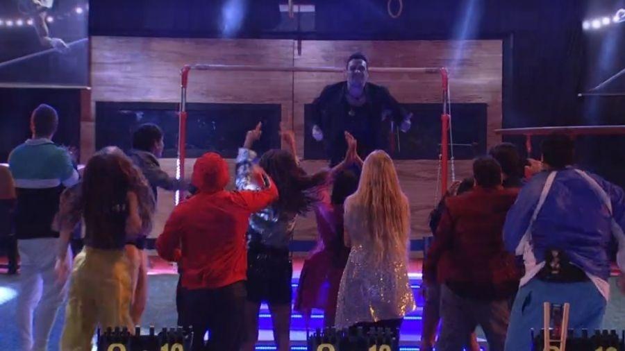 Petrix comemorando na Festa do Líder - Reprodução/Globoplay