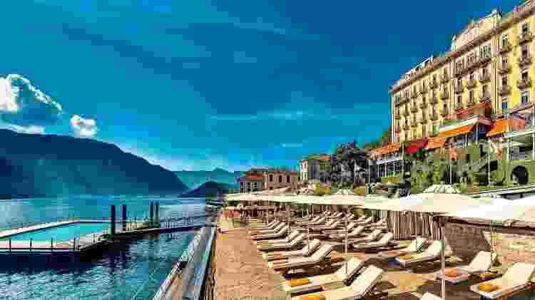 Piscina do Grand Hotel Tremezzo, na Itália - Divulgação