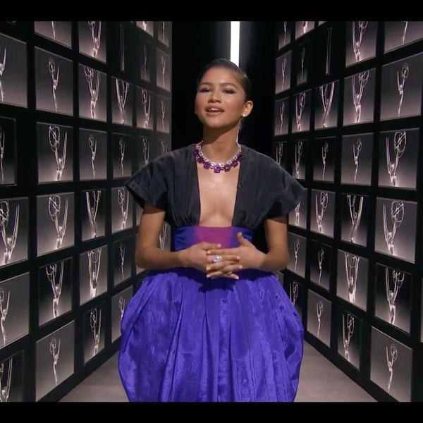 Zendaya durante a cerimônia do Emmy 2020