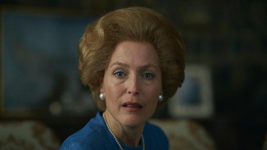 """Gillian Anderson viveu Margaret Thatcher em """"The Crown"""" e ganhou prêmio de melhor atriz coadjuvante em drama - Des Willie/Netflix"""