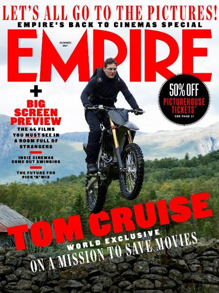 """Tom Cruise em cena de """"Missão Impossível 7"""" - Reprodução/Twitter"""