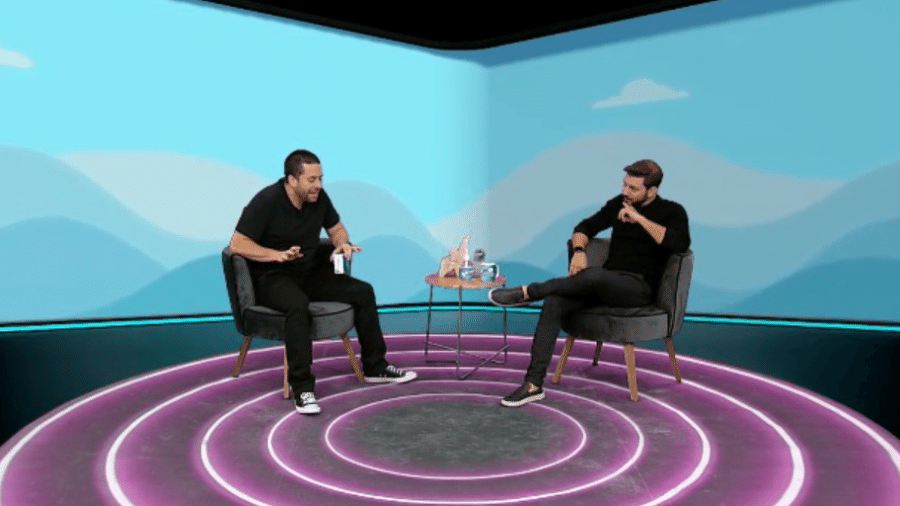 """Caio Afiune participou do """"Foi Mau"""", com Maurício Meirelles - Divulgação / RedeTV!"""