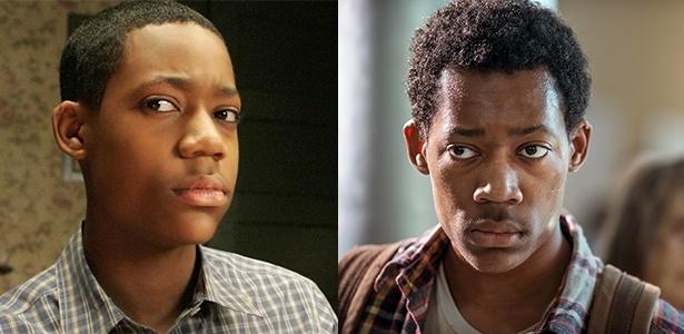 """Tyler James Williams em """"Todo Mundo Odeia o Chris"""" (esquerda) e na série """"The Walking Dead"""" (direita) - Divulgação"""