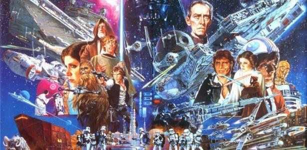 """Noriyoshi Ohrai ganhou reconhecimento ao ilustrar cartazes e pôsteres da saga """"Star Wars"""" - Reprodução"""