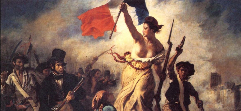 """""""A Liberdade Guiando o Povo"""" (1830), pintura de Delacroix - Reprodução/Musée du Louvre"""