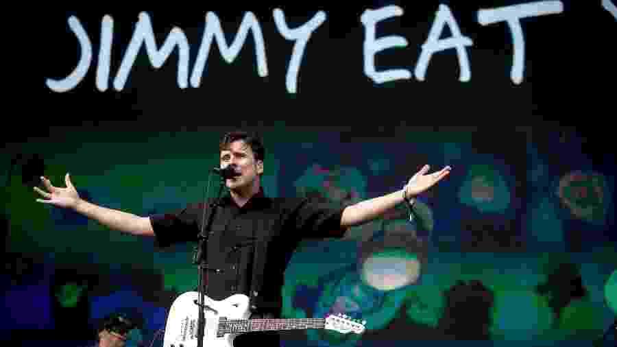 A banda americana Jimmy Eat World faz seu primeiro show no Brasil, no Lollapalooza 2017 - Alexandre Schneider/UOL
