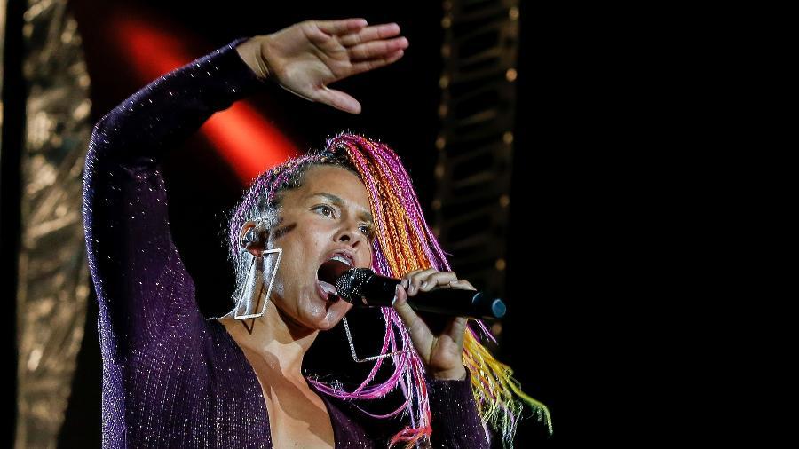 Alicia Keys se apresenta no Palco Mundo na terceira noite do Rock in Rio - Marco Antonio Teixeira/UOL