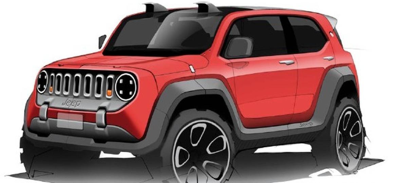 """Projetistas do CarWale, um dos maiores sites automotivos da Índia, já esboçaram em sketches como seria o """"baby-Renegade"""" - CarWale"""