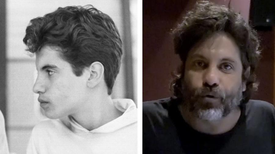 """Pedro Vasconcelos em """"Vamp"""" (1991) e atualmente: diretor artístico reencontrou parte do elenco de sua primeira novela  - Geraldo Modesto/Globo/Reprodução/Globo/Montagem UOL"""