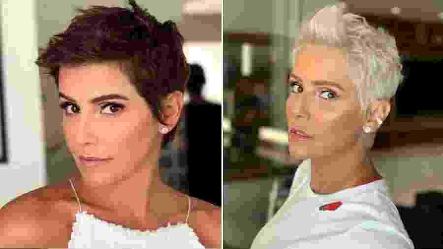 Deborah Secco antes e depois de mudar o visual - Reprodução/Instagram