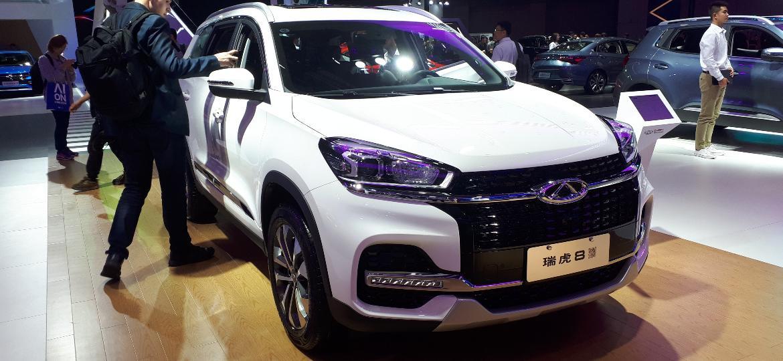 Exibido em novembro no Salão do Automóvel, Tiggo 8 chega até 2020 para concorrer na faixa do VW Tiguan Allspace - Vitor Matsubara/UOL