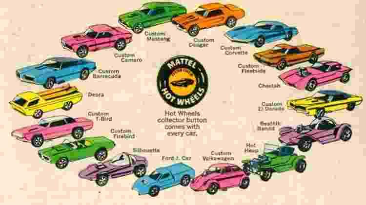 """""""Sweet Sixteen"""" foi o nome dado à série com os 16 primeiros carrinhos da Hot Wheels - Divulgação"""