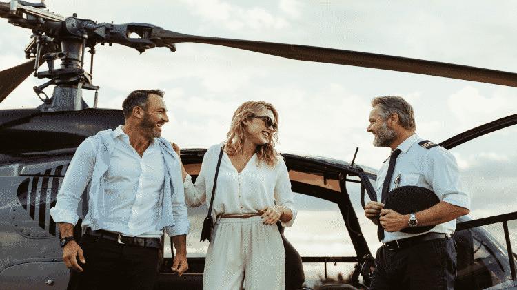 Passeio de helicóptero levará grupo ao começo da experiência VIP na Toscana - Divulgação/Oliver's Travel
