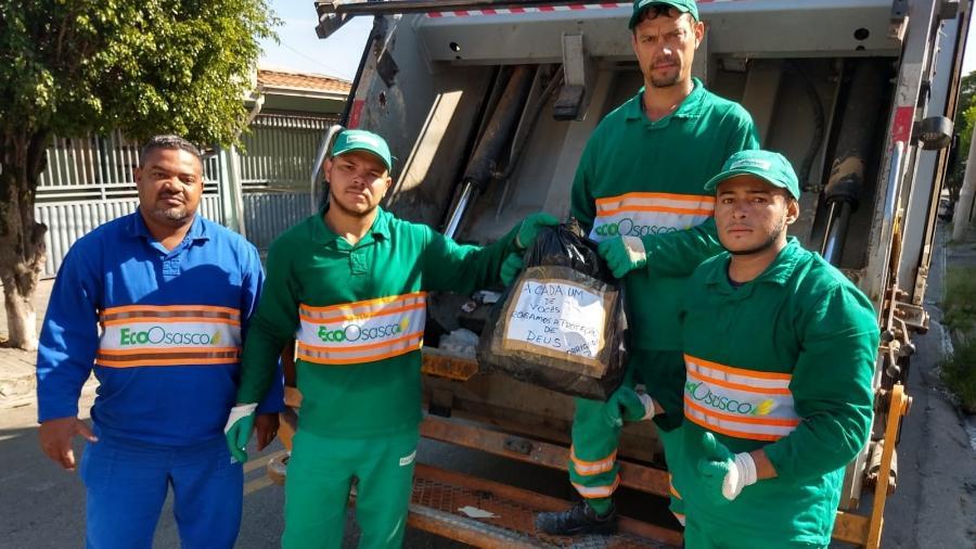 Coletores de lixo de Osasco (SP) - Divulgação/EcoOsasco