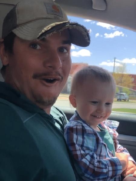 O pai e o bebê Orion ficaram em choque ao receberem a notícia - Reprodução