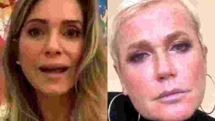 Xuxa e Letícia Spiller em uma live - Reprodução/Instagram