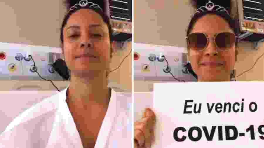 Cinnara Leal na Casa de Saúde São José,noRio de Janeiro - Reprodução/Instagram