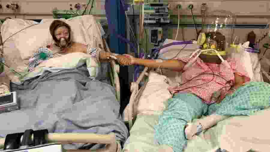 Maria Rico e sua filha Anabel Sharma foram admitidas no hospital Leicester Royal no mesmo dia - Anabel Sharma