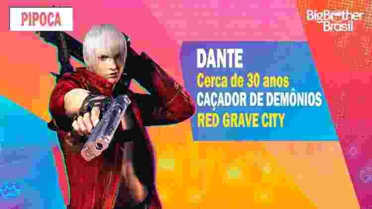 Dante no BBB - Montagem: Allan Francisco / Divulgação (Capcom) - Montagem: Allan Francisco / Divulgação (Capcom)