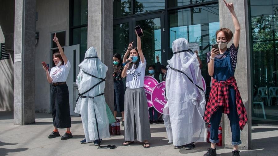 Protesto por direitos reprodutivos e sexuais na Tailândia - SOPA Images/LightRocket via Gett