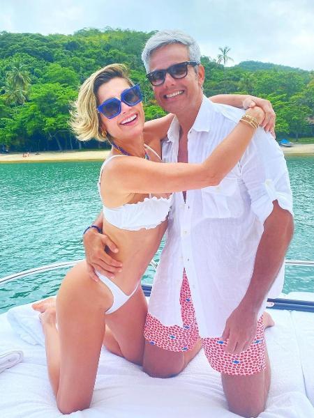 """Flávia Alessandra e Otaviano Costa entraram na brincadeira das """"mensagens motivacionais"""" nas redes sociais - Reprodução/Instagram"""