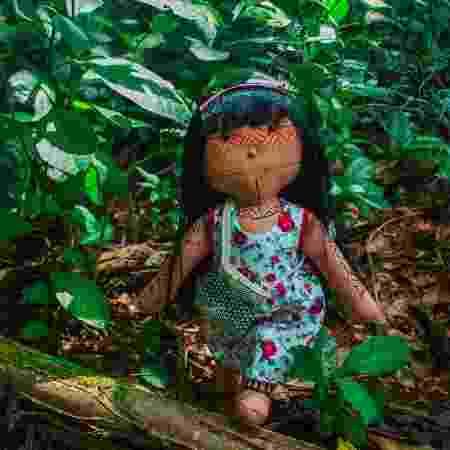 Um dos modelos de boneca confeccionados por Luakam é inspirado em sua etnia, Anambé - Divulgação - Divulgação