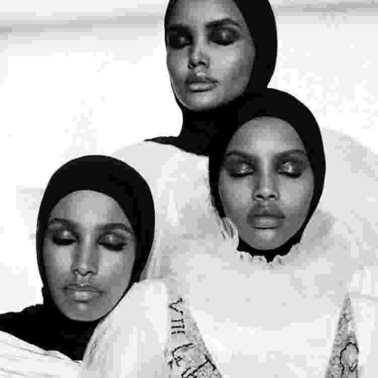 A modelo sentia que suas tradições era eram ironizadas e até desrespeitadas no mundo da moda - Reprodução/Instagram @halima - Reprodução/Instagram @halima