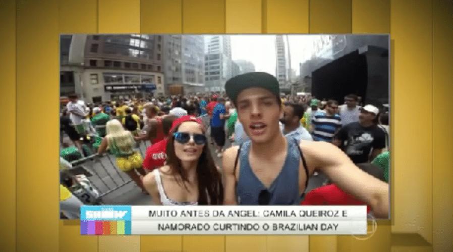 """4.set.2015 - Um vídeo com imagens de Camila Queiroz curtindo o show de Ivete Sangalo com o namorado, em Nova York, no ano passado, foi exibido na tarde desta sexta-feira (4) pelo """"Vídeo Show"""". Na época, Camila ainda trabalhava exclusivamente como modelo e morava nos Estados Unidos"""