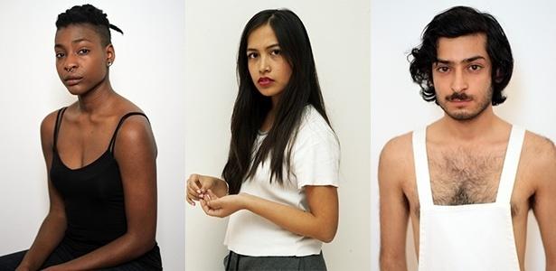 Modelos asiáticos e negros de agência de Londres - Montagem/Divulgação