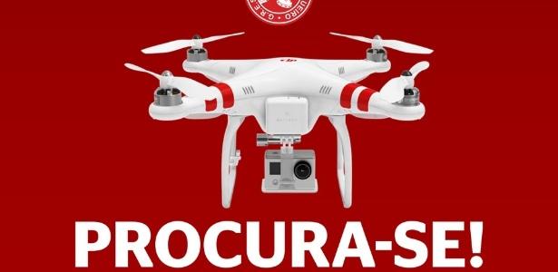 Salgueiro divulga imagem de drone perdido durante ensaio técnico na Sapucaí
