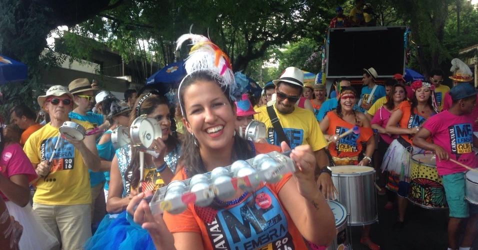 14.fev.2016 - Despedida do Carnaval da Vila Madalena é marcada por clima de festa e confraternização. Aproximadamente 500 foliões curtiram o Bloco Me Lembra Que Eu Vou