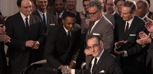"""Telefilme """"Até o Fim"""" mostra articulação do presidente Lyndon Johnson com Martin Luther King para aprovar a Lei dos Direitos Civis de 1964 - Divulgação/HBO"""