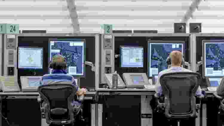 Os controladores de voos são estimulados a fazer intervalos e dormir por alguns minutos - BBC/Nats - BBC/Nats