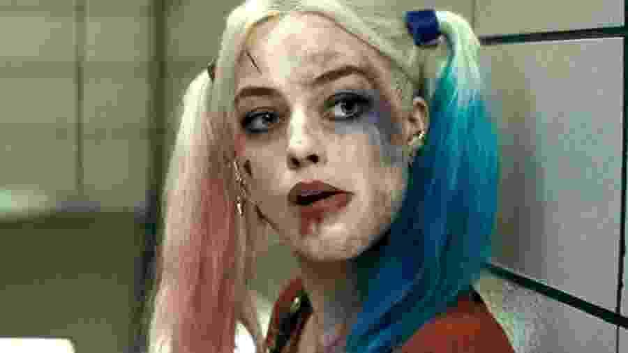 """Margot Robbie com Arlequina em """"Esquadrão Suicida"""" - Reprodução"""
