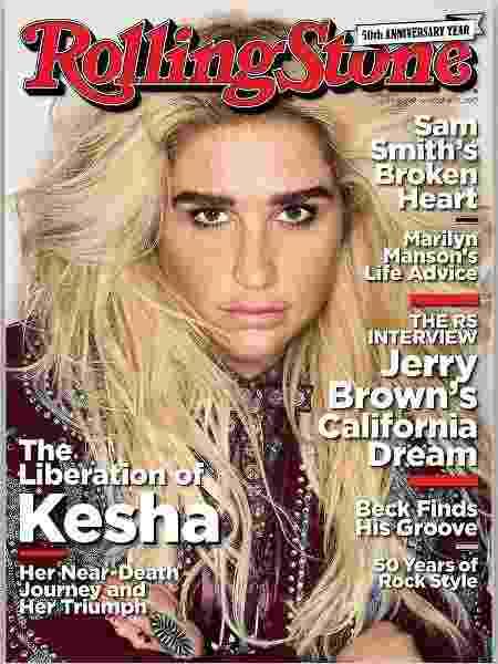 """Kesha falou sobre seus transtornos alimentares na capa da """"Rolling Stone"""" - Reprodução/Instagram/@rollingstone"""